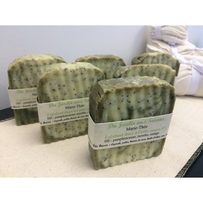 Grapefruit mint and orange hand made soap