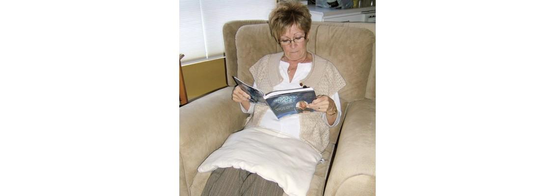 organic heatable cushion