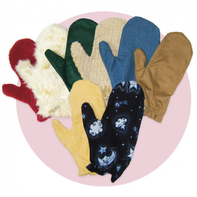 Kit of 3 tactile mittens