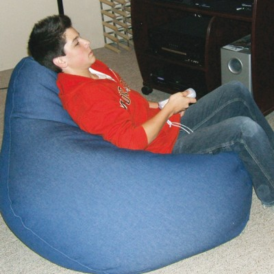 Tear drop shaped bean bag