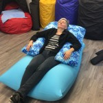 Giant lycra bean bag